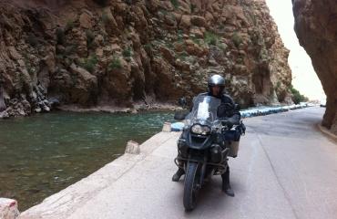 motocyklem w maroku