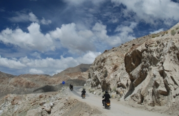 Manali - Leh highest mountain passes. Expedition in the Himalayas on a motorcycle